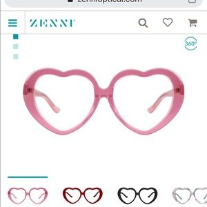 heart shaped zenni frames ( have rx in)